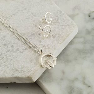 Claddagh Pendant & Earrings Communion & Confirmation Gift