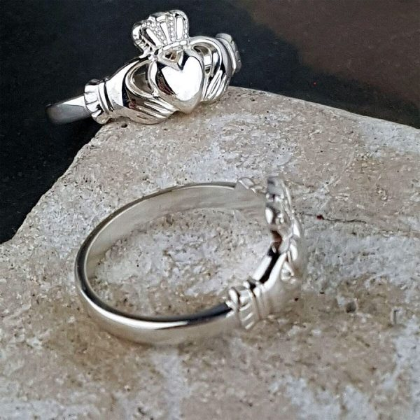Ladies Silver Claddagh Ring on GalwayExplored.ie Galway Silver Claddagh Rings for Ladies. Claddagh Rings represent Friendship, Love & Loyalty.