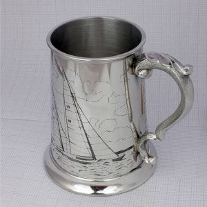 Sailing & Yachting Tankard - Ideal Sailing Prize. Personalised Sailing Tankard to Celebrate Sailing & Yachting on Galway Bay with GalwayExplored.ie